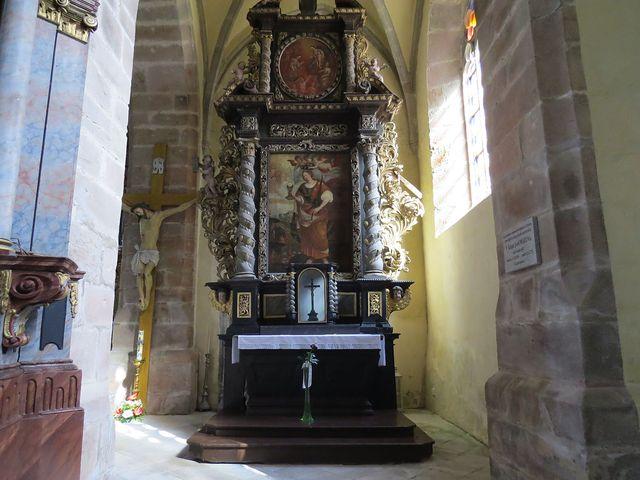 tento obraz údajně věnoval kostelu zdejší rodák Dr. Emil Hácha