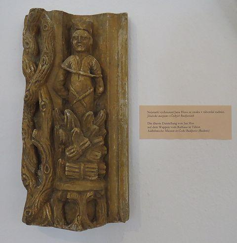 nejstarší vyobrazení Jana Husa ze znaku v táborské radnici
