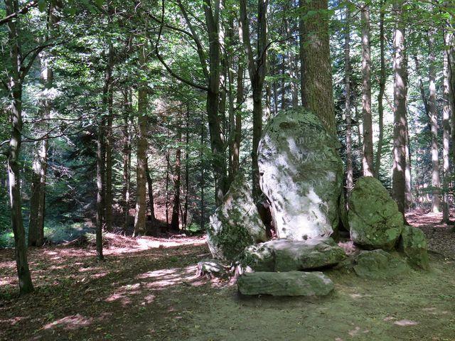 pamětní kámen - zde se podle legendy narodil Jan Žižka