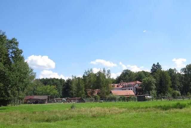 nově zrekonstruovaný areál Borovanského mlýna