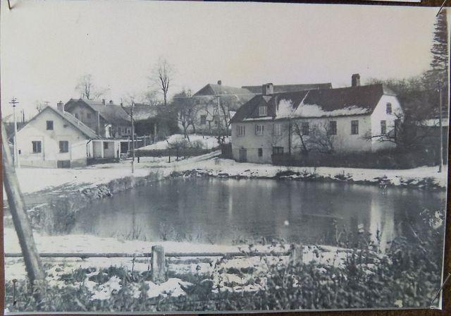 střed obce Řehořov - 60. léta 20. století