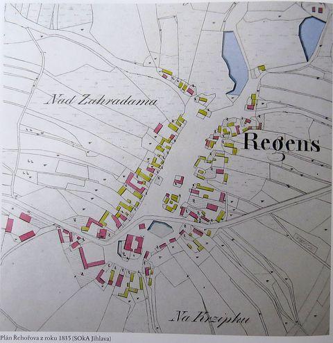 plán Řehořova z roku 1835