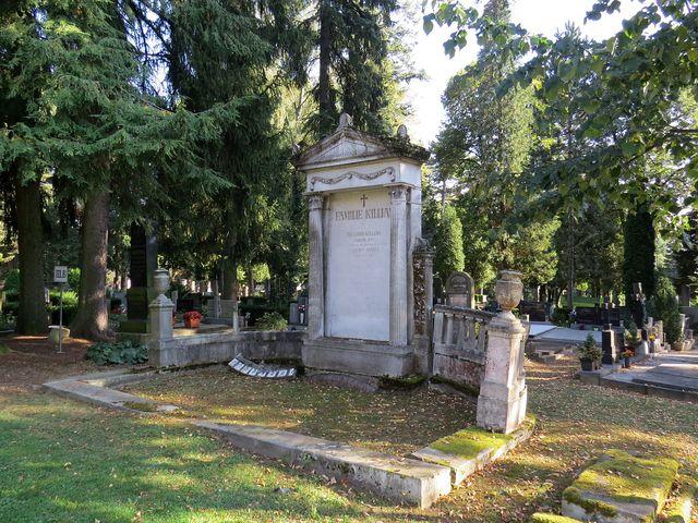 hrobka rodiny obchodníka, císařského rady Richarda Killiana, od roku 1907 čestného občana města Jihlavy
