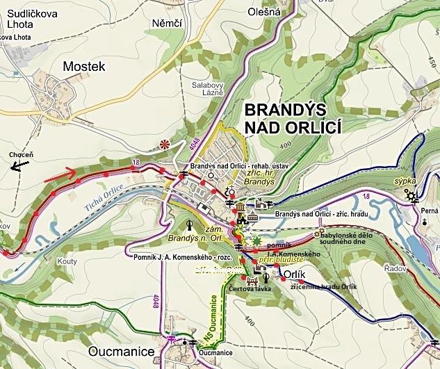 prohlídka města a okolí - památník J. A. Komenského, Čertova lávka, místo, kde stával hrádek Orlík 8.10.2016