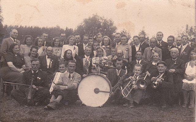 svatba v Řehořově - září 1945
