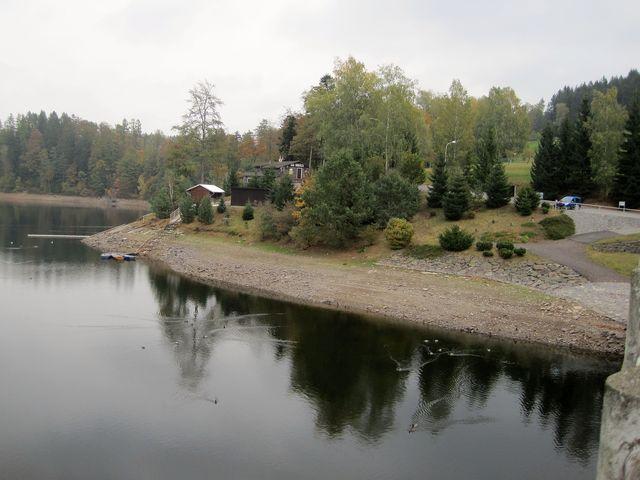 v přehradním jezeře byl velmi nízký stav vody