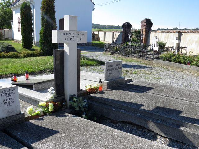 část, kde jsou pochovány sestry Voršilky