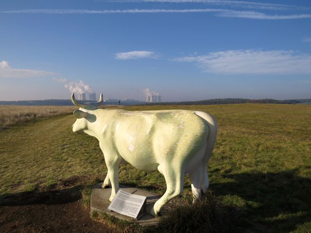 svítící kráva v hadcové stepi