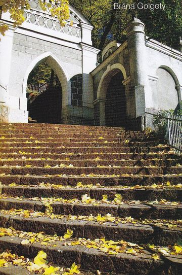 Brána Golgoty - sken z brožury o Vambeřicích