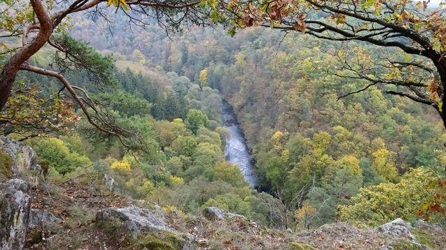 romantické údolí řeky Oslavy; foto L. Tomáš