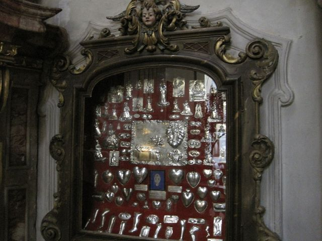 votivní dary díkůvzdání Matce Boží