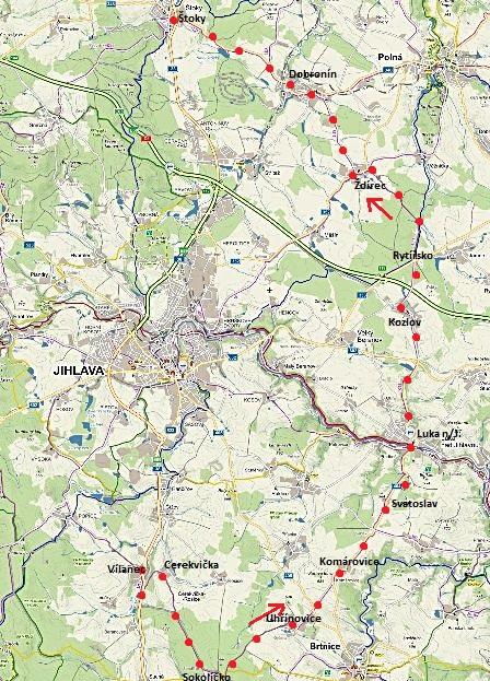 kontrola cyklotrasy č. 5215 z Vílance přes Luka n/J do Štoků 31.5.2016