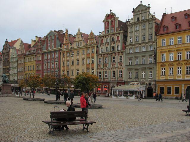 bývalé kupecké domy na Rynku ve Vratislavi