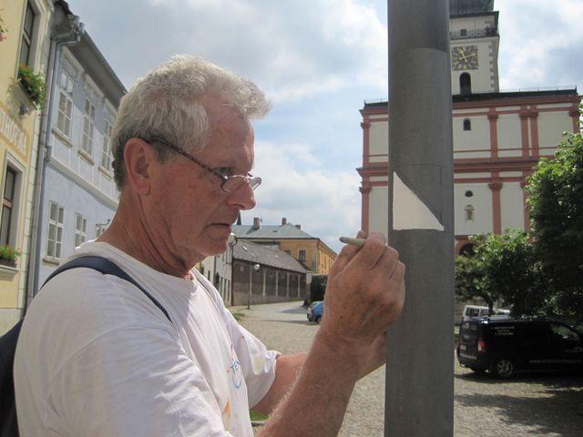Sezimovo náměstí v Polné - východiště NS J. Klementa je na Husově náměstí, odkud pokračuje na Karlovo k synagoze a pak směrem k zámku