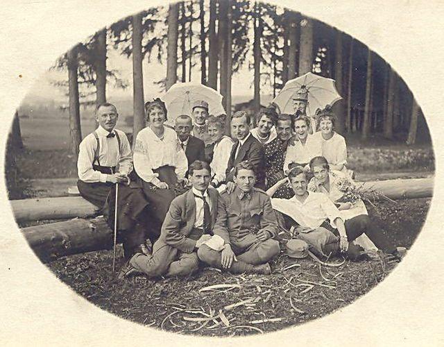 výlet na Čeřínek v létě 1915