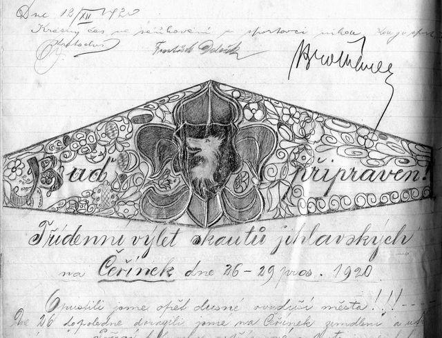 zápisy ve Staniční knize ze dne 12.12.1920 a 26.-29.12.1920