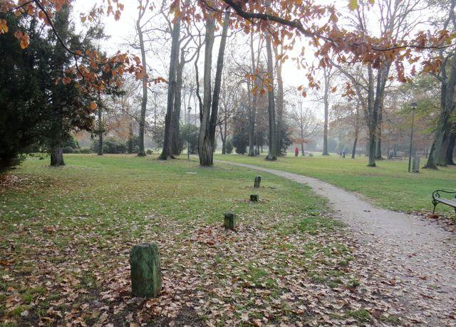 lapidárium mezníků v zámeckém parku