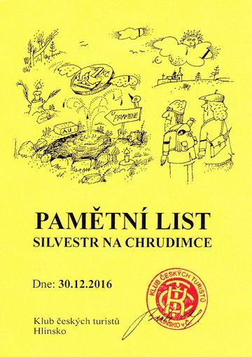 tento doklad lze získat vždy jen 30. prosince u pramene Chrudimky