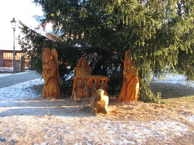 vánoční výzdoba v Hlinsku