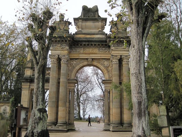 pohled na portál z vnitřní strany