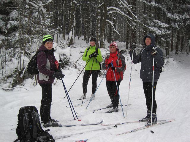 Mirek vyfotil své souputníky cestou na Křemešník