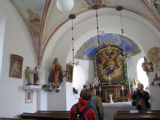 kaple Nanebevzetí Panny Marie; www.svatosi.cz