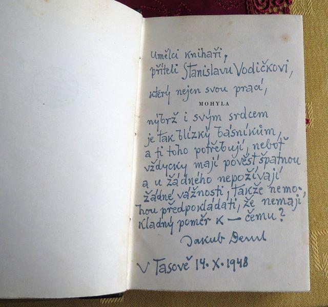 věnování, jaké uměl napsat jen tasovský básník