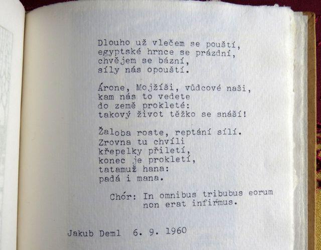 jedna z posledních básní Jakuba Demla