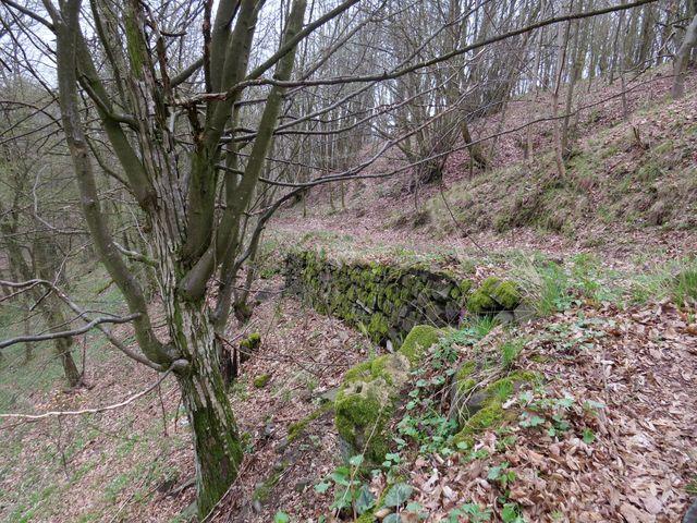 terasa zajišťující přístupovou cestu k Sedleckému hradu