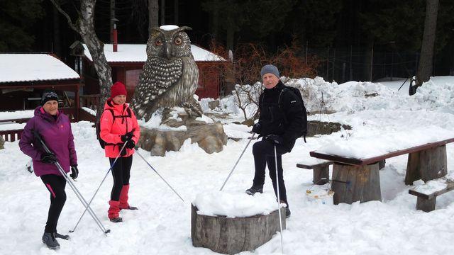 nezbytné foto u Výra - ten už se stal symbolem Yukonu
