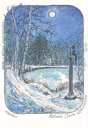 korouhvička v objetí zimy