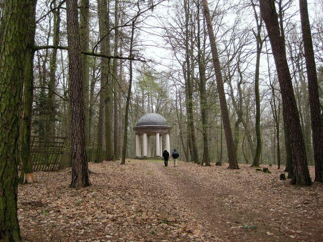 cestou k altánu v Schönwaldu