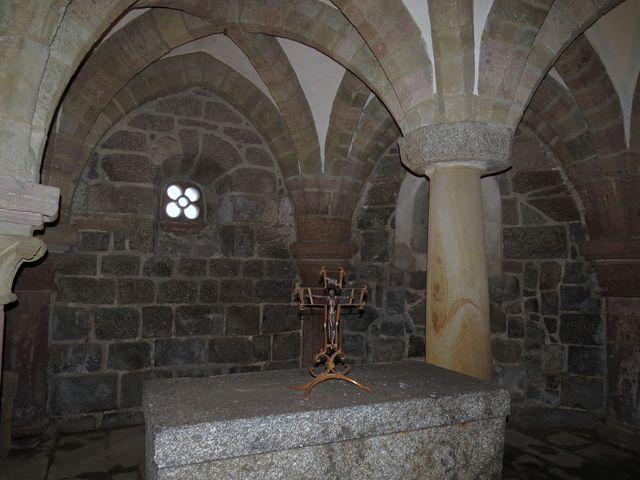 krypta sloužila jako pohřebiště mnichů