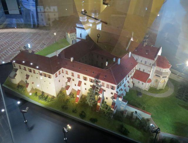model komplexu budov z pohledu od řeky Jihlavy