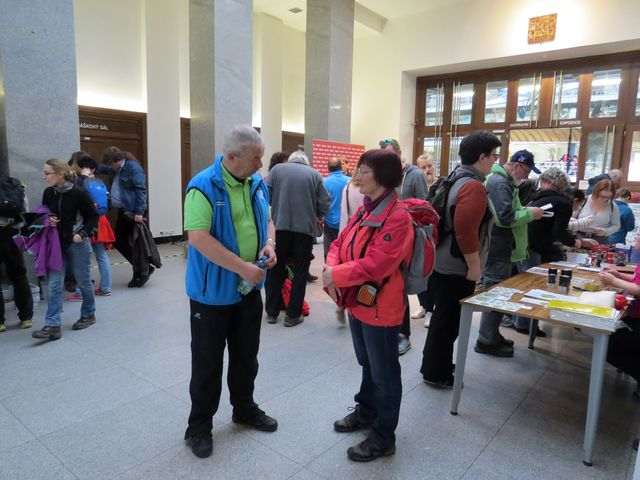 ve vestibulu Národního technického muzea se setkávali turisté z celé republiky