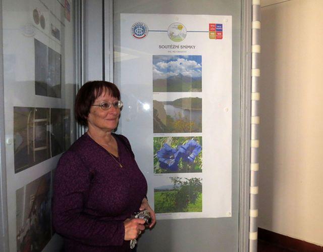 autorka Ing. Míla Bradová u svých soutěžních fotografií