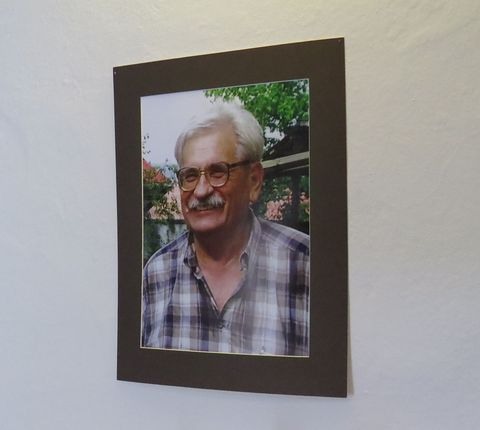 portrét slavného rodáka Ludvíka Vaculíka v brumovském muzeu