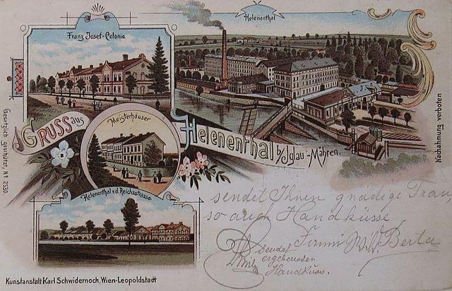 pohlednice zveřejněná v knize Z. Geista Löwovi