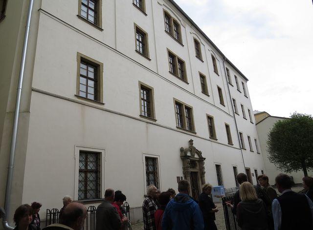 budova dřívějšího gymnázia, dnes městská knihovna