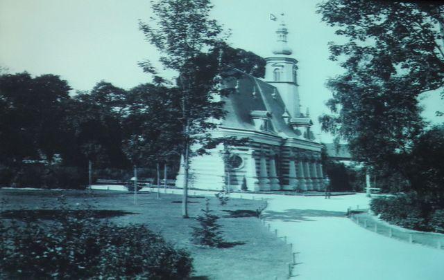 kostel sv. Ducha v roce 1891, kolem nové Smetanovy sady
