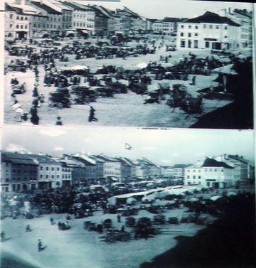 rušné jihlavské náměstí v dobách Mahlerových