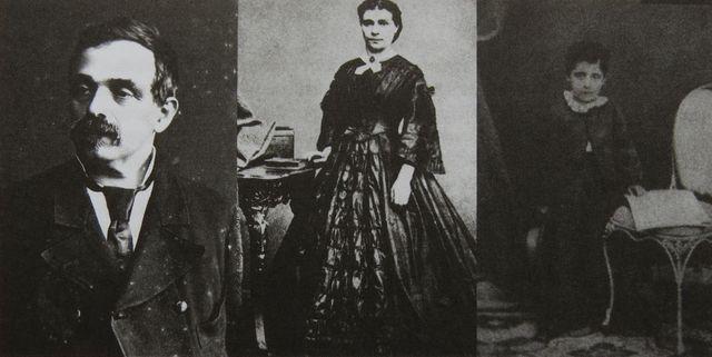 Bernard Mahler, matka Marie, malý Gustav - rok 1865