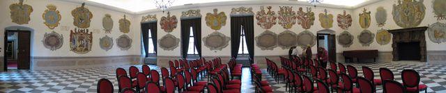 erbovní sál třebíčského zámku; foto F. Janeček