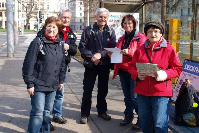 část skupiny pochodníků z Vysočiny; foto Lenka Žáková