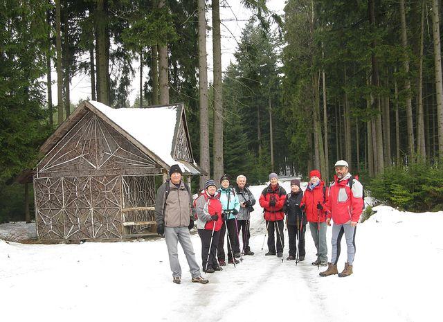 u Světelské chaty, sestoupili jsme z Javořice, míříme do Telče; foto M. Bradová