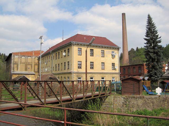 současný stav bývalého továrního komplexu