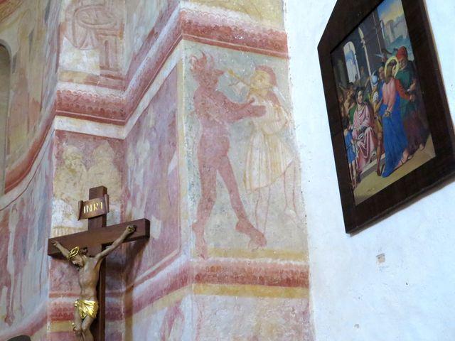 na malbách je zachyceno peklo i ďábel