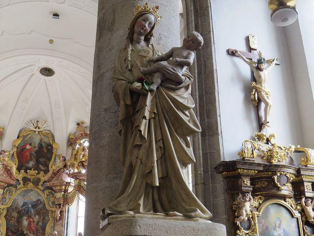 Třeboňská Madona v kostele sv. Jiljí