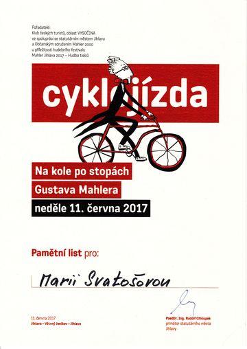 autorkou pamětního listu je grafička Eva Bystrianská, která zpracovává i ostatní materiály pro festival Mahler Jihlava