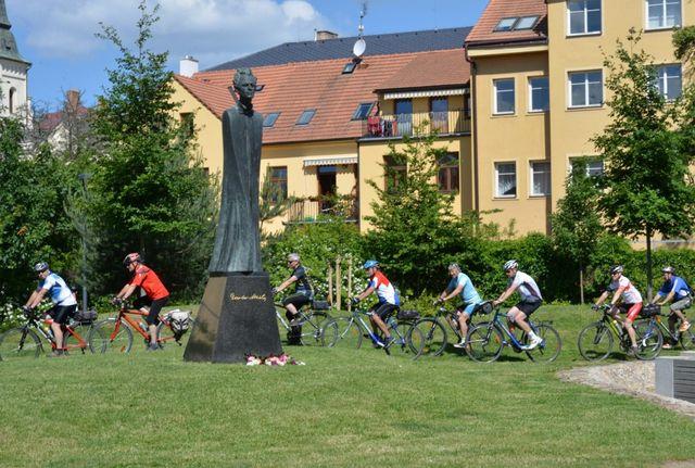 čestné kolo v Parku Gustava Mahlera; foto Jan Černo